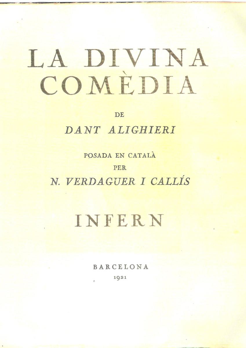Verdaguer i Callís – 1921 (eo)