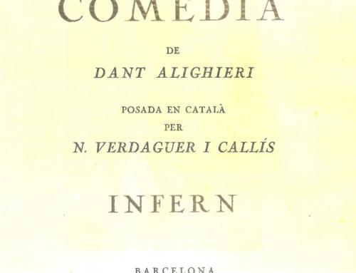 Verdaguer i Callís – 1921