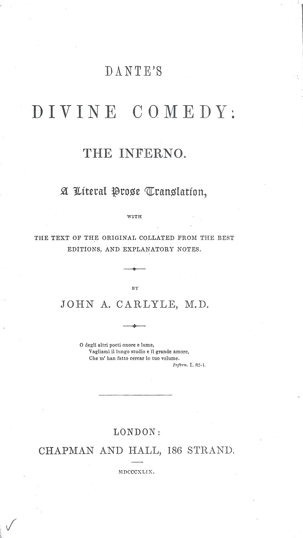 Carlyle – 1849