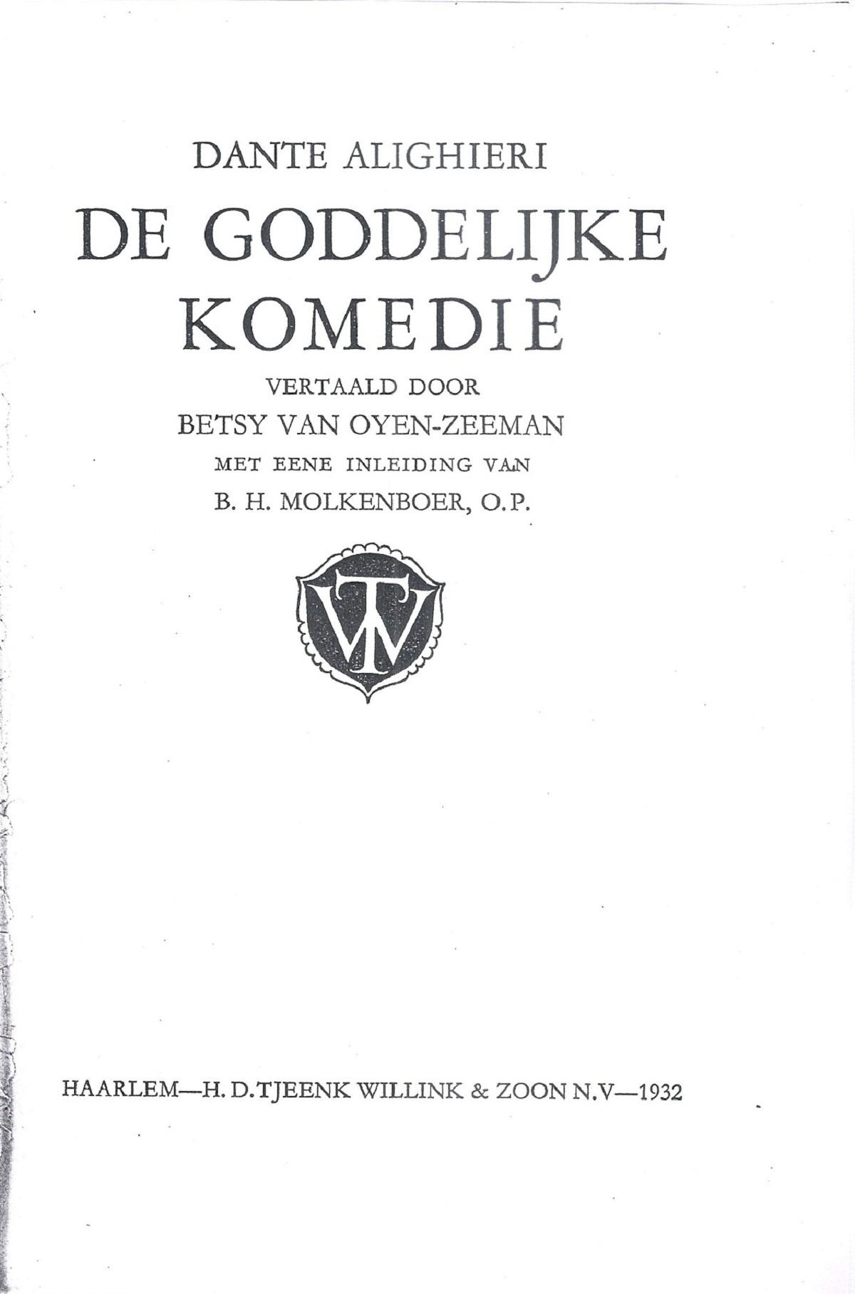 Van Oyen-Zeeman – 1932