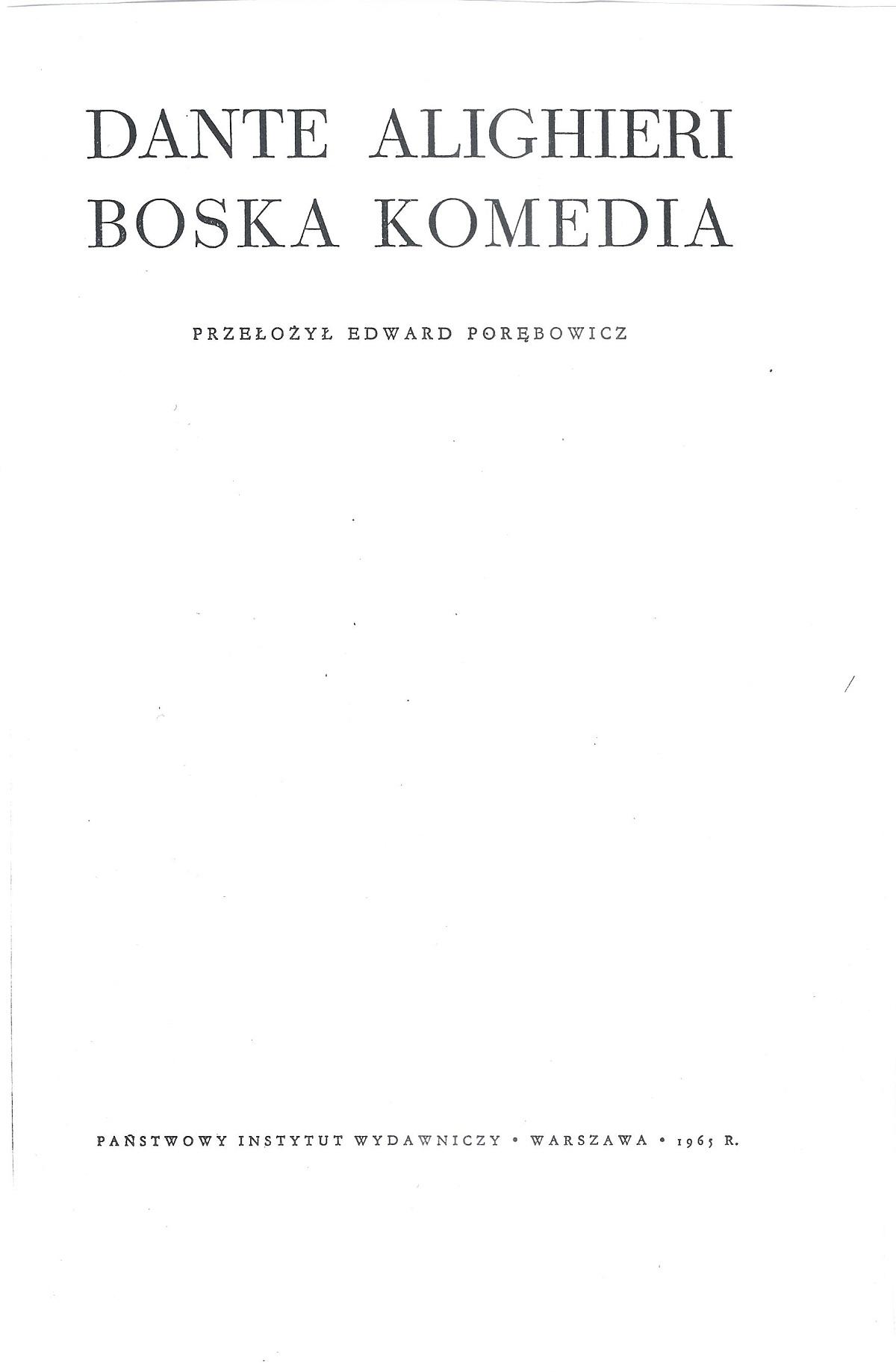 Porębowicz – 1965