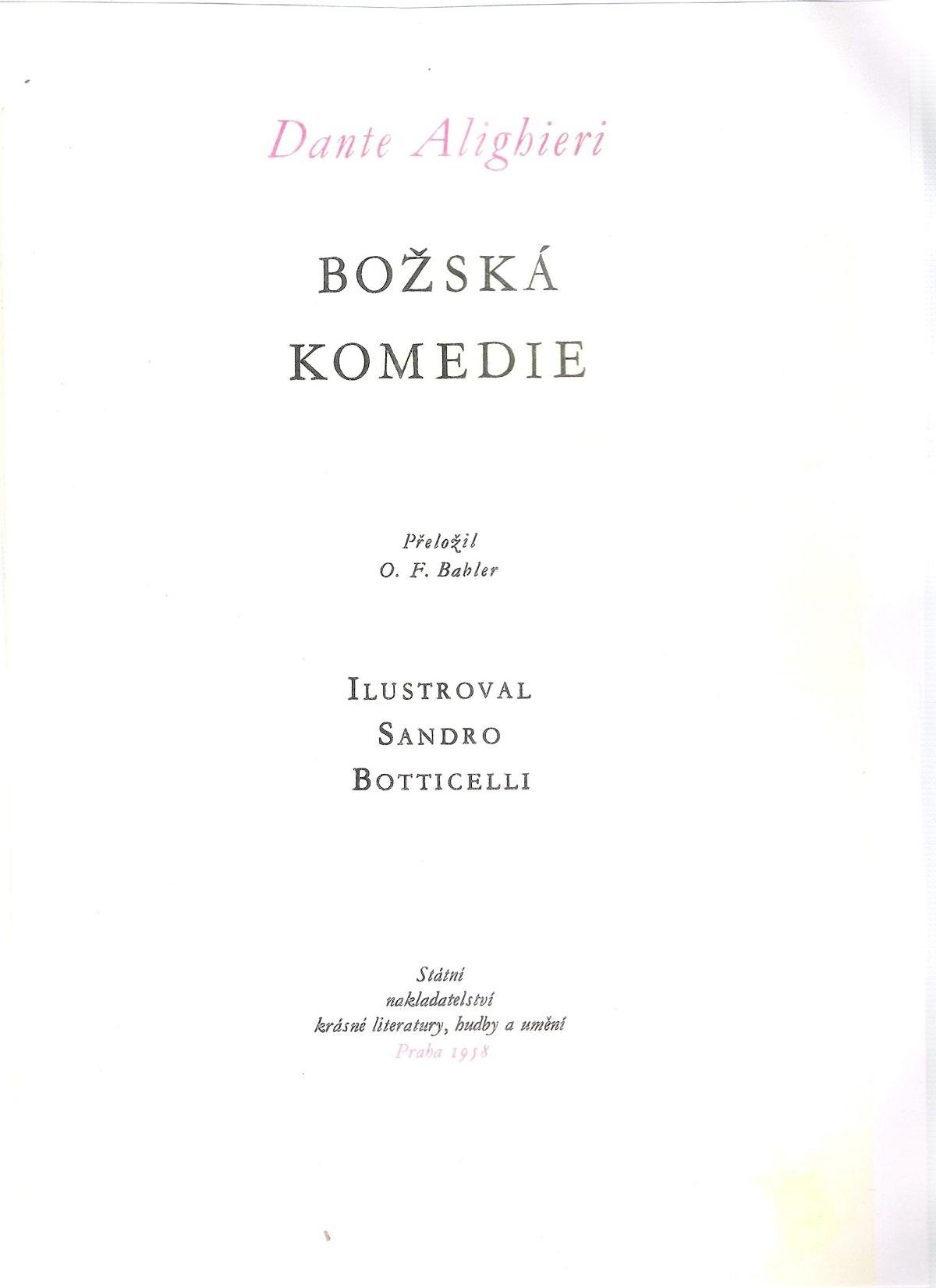 Babler e Zahradníček – 1958