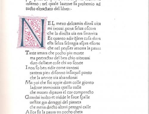 Francesca da Rimini – Edizione Foligno 1472