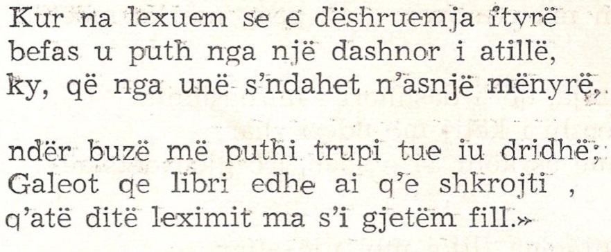 Albanese – Gjeçi
