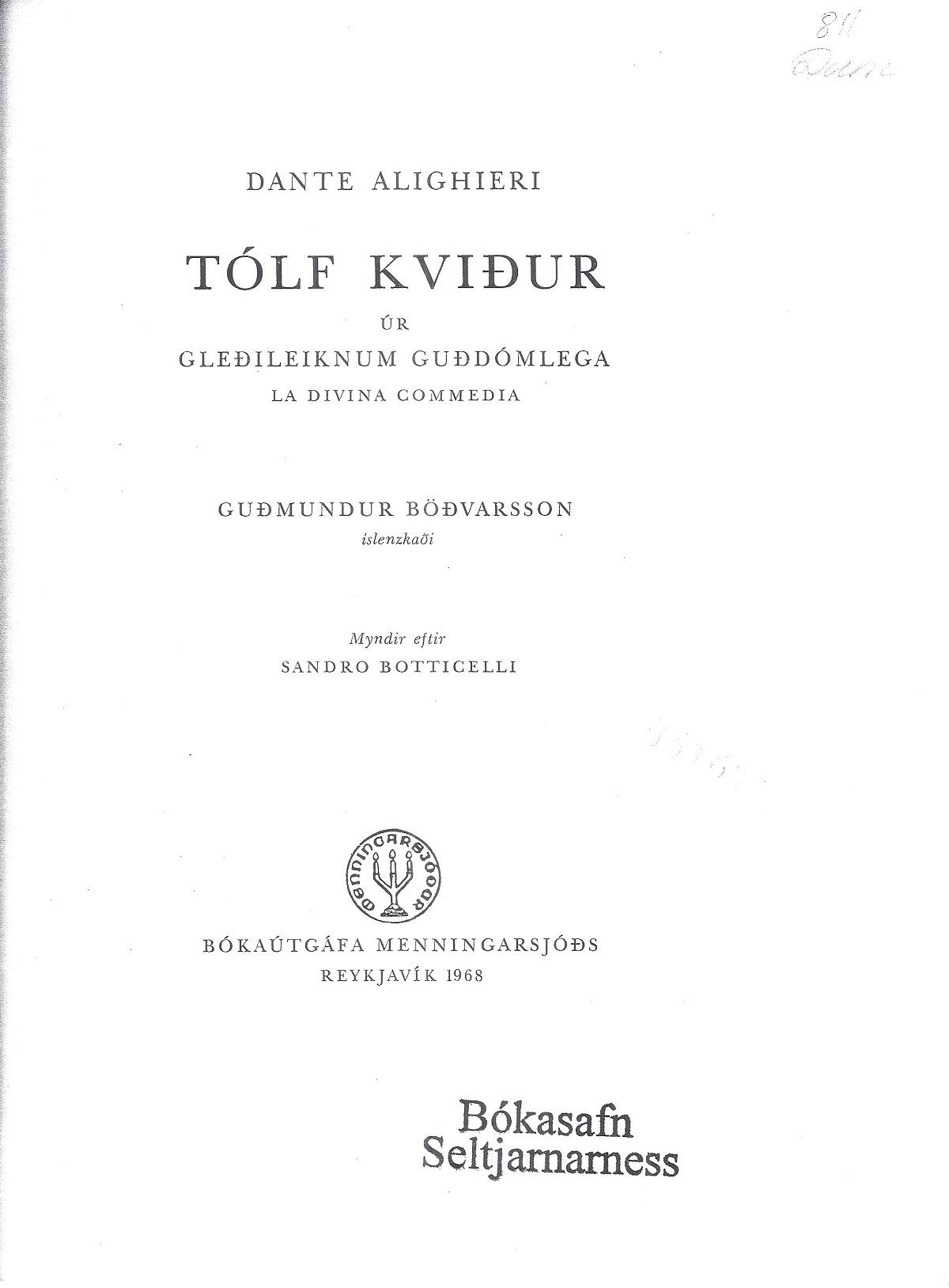 Böðvarsson – 1968