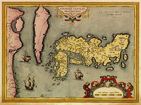 Map of Japan, Ortelius, 1595