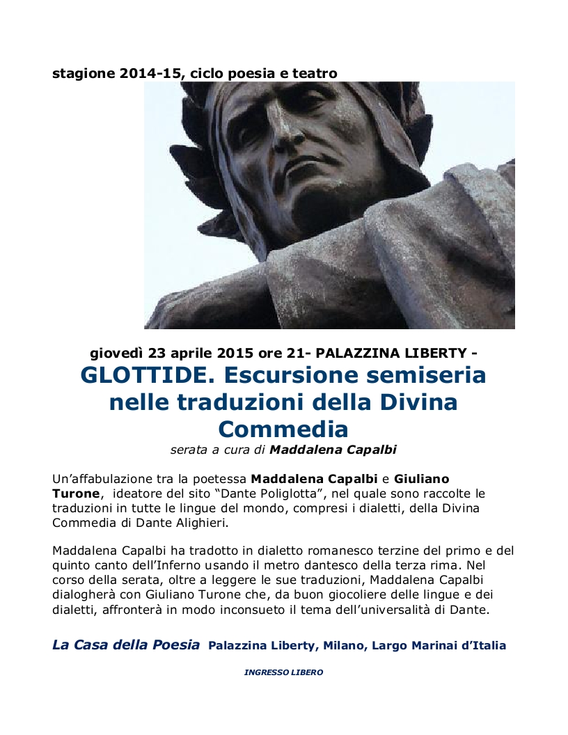 Dante alla Palazzina Liberty