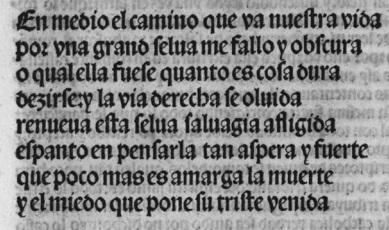 Pedro Fernández de Villegas, incipit del Infierno, 1515