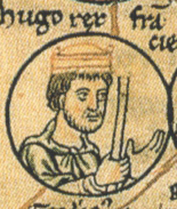 12th century portrayal of Hugh Capet