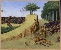 La morte di Rolando, miniatura francese del sec. XV