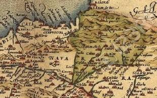 Ancient map of Navarra