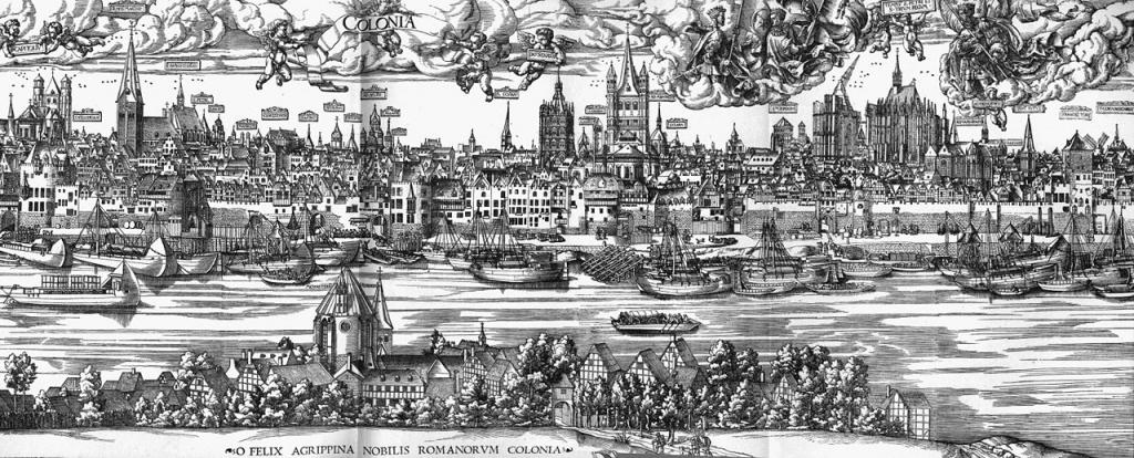 Anton Woensam (Worms, 1495 circa – Colonia, 1541) Panorama di Colonia, 1531