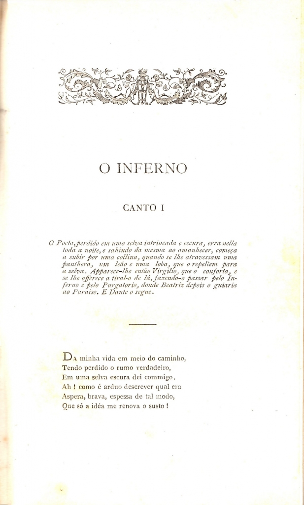 Barão da Villa da Barra, 1888, incipit dell'Inferno