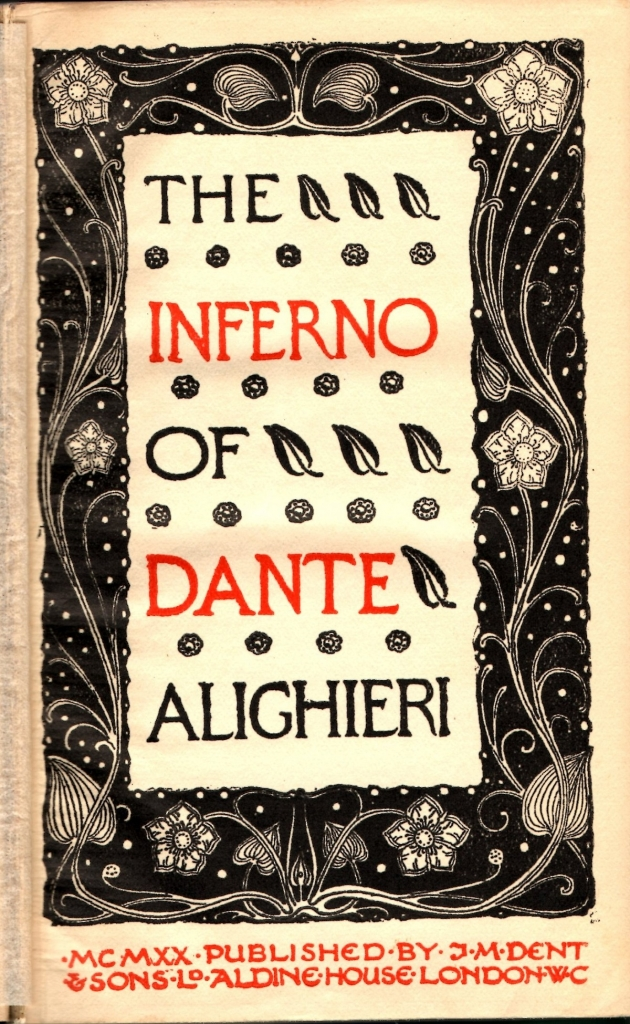 Inferno in inglese, Carlyle, 1920, Frontespizio