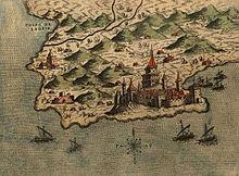 Durazzo, mappa del 1573
