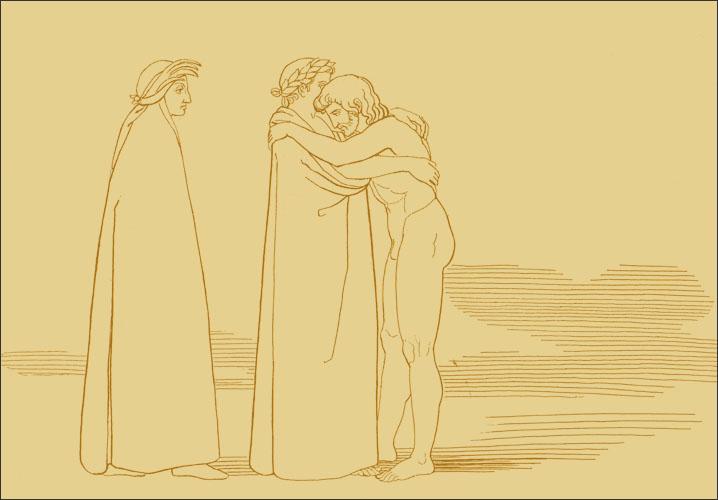 John Flaxman, Sordello abbraccia Virgilio