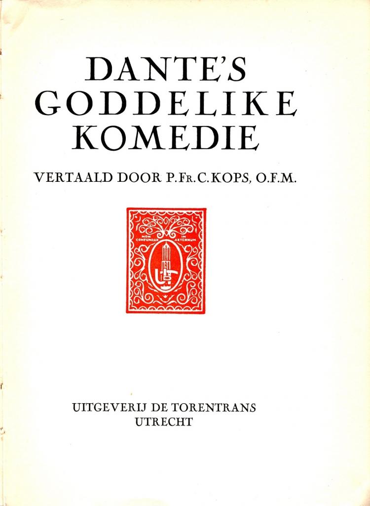 Kops, 1930, Frontespizio