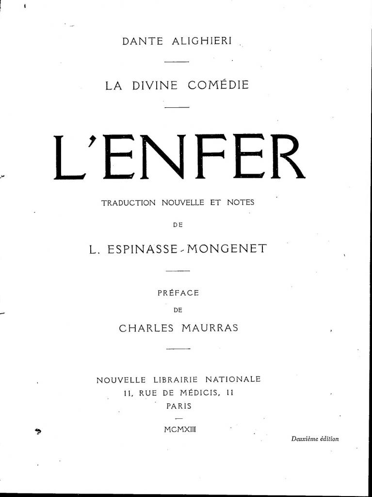 L. Espinasse-Mongenet, Frontespizio