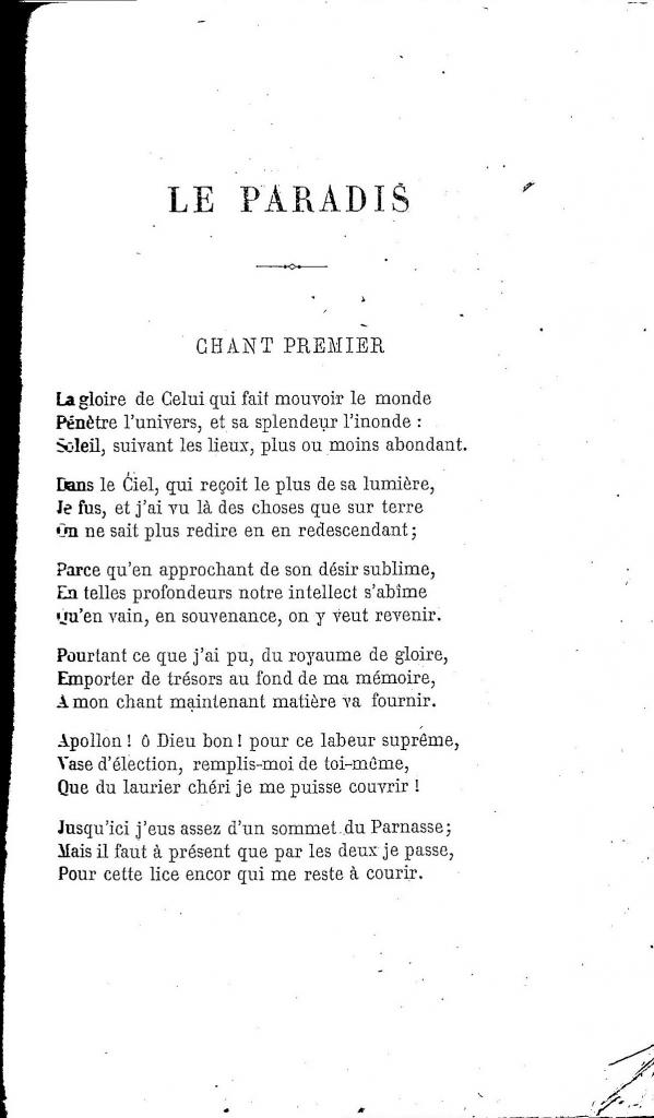 L. Ratisbonne, Incipit Paradiso