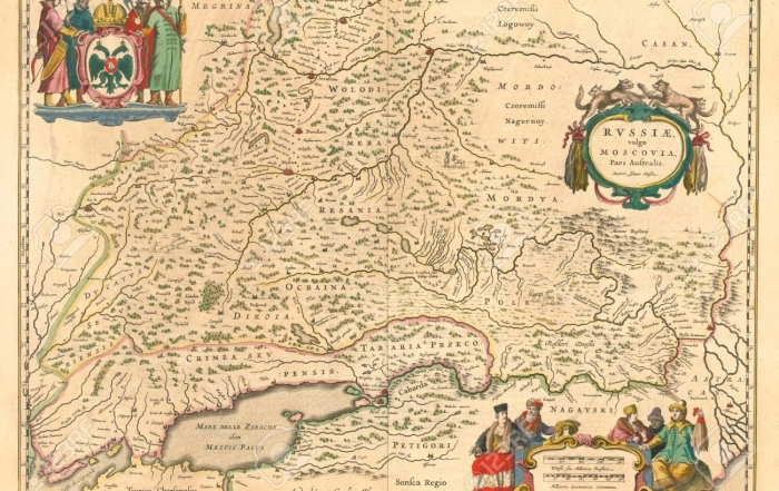 Medieval map of Russia