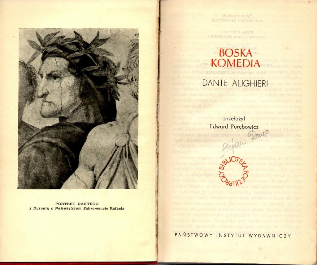 Porębowicz, 1959, Frontespizio