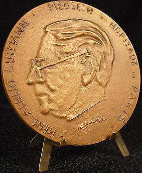 René Albert Gutmann, medico e poeta francese, medaglia Eauricoste, 1950