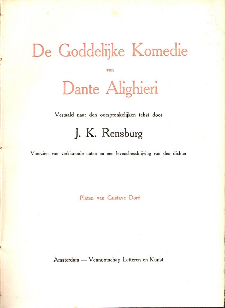 Rensburg, 1906, Frontespizio