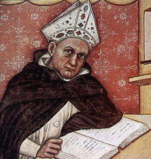 Sant'Alberto Magno, filosofo e teologo, fu professore nell'Università di Colonia