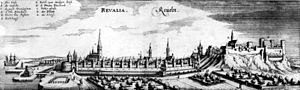 Adam Olearius, Tallinn-Reval nel secolo XVII