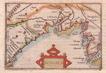Ancient map of Bengala