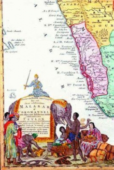 Ancient map of today's Kerala