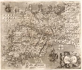 Antica mappa dell'Istria
