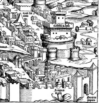 Dettaglio con Castel S'Angelo e Ponte S. Angelo