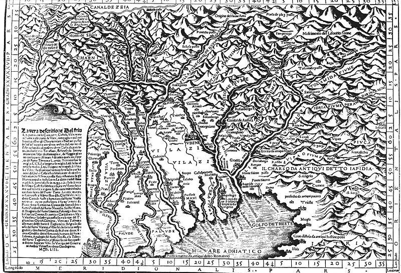 Mappa del Friuli - 1553