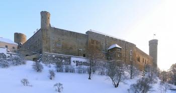 Tallinn, il castello di Toompea, teatro della battaglia di Lyndanisse nel 1219