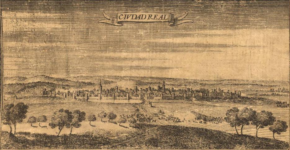 Ciudad Real en 1687, grabado de Juan Francisco Leonardo