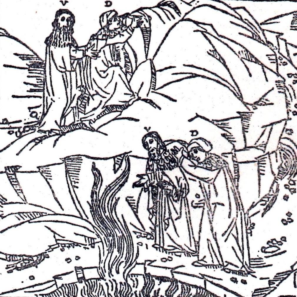 La fiamma di Ulisse, Incisione del Sec. XV, dall'ediz. Quarenghi di Venezia 1497