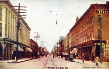 North Burdick Street, Kalamazoo, Michigan, 1908