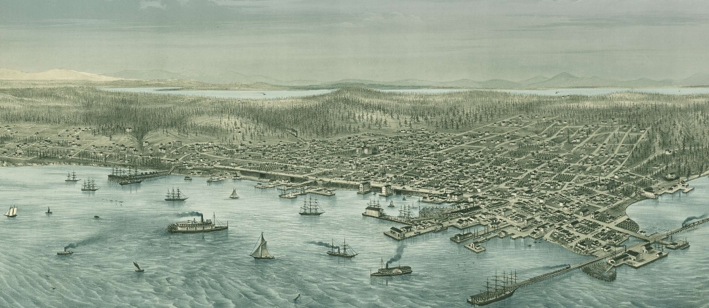 Seattle 1878 Bird's-eye View
