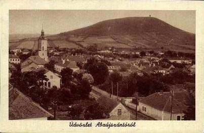 Veduta di Abaújszántó in una vecchia cartolina