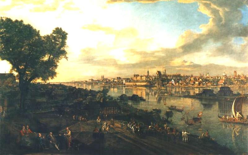 Bernardo Bellotto detto il Canaletto - Veduta di Varsavia, 1770