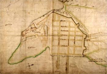 Isaac van Geelkercks, mappa di Oslo (già Christiania), 1648