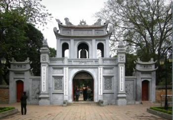 Main entrance of the University of Hanoi - Copia