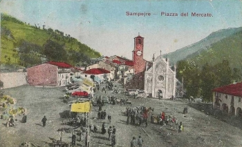 Sampeyre in una cartolina del 1928
